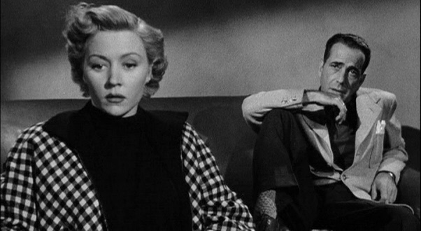 "Gloria Grahame and Humphrey Bogart in ""In a Lonely Place"""