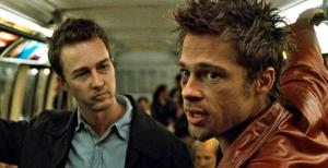 Edward Norton and Brad Pitt