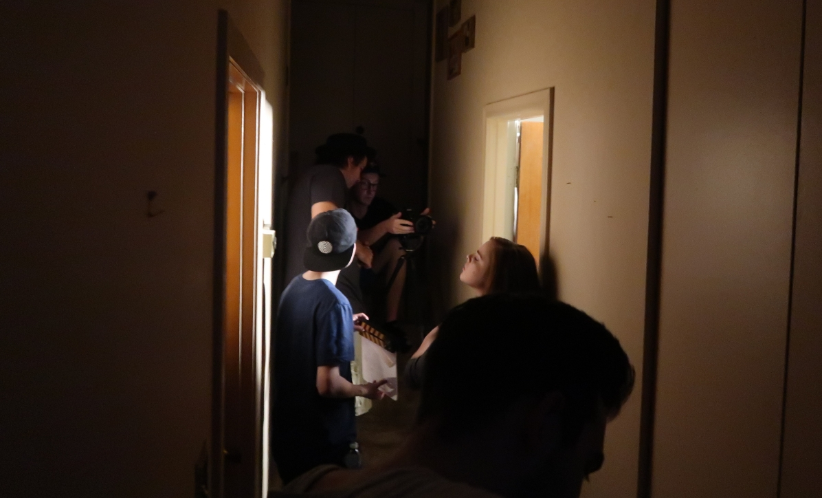 "On the set of ""Contrition"""