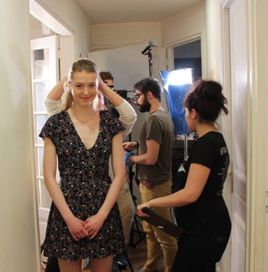 Natalia Pujszo on the set