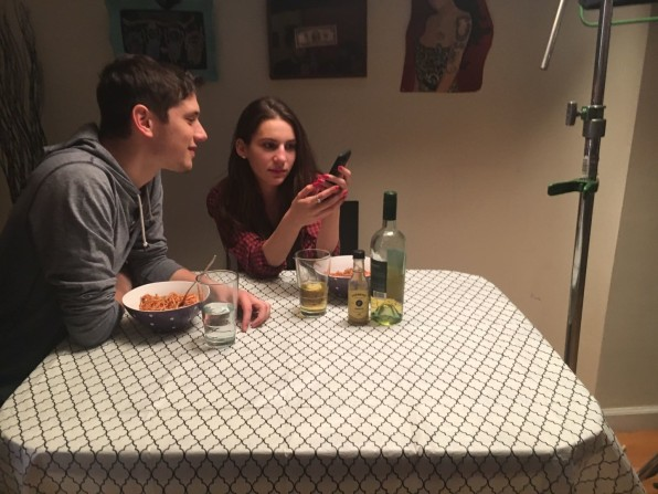 Eric Haber and Tara Rose Schreiber on the set