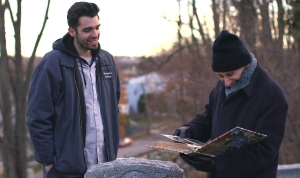 "ISA award-winning David Joseph Volino and Jerry Matz in ""Across the Graveyard"""