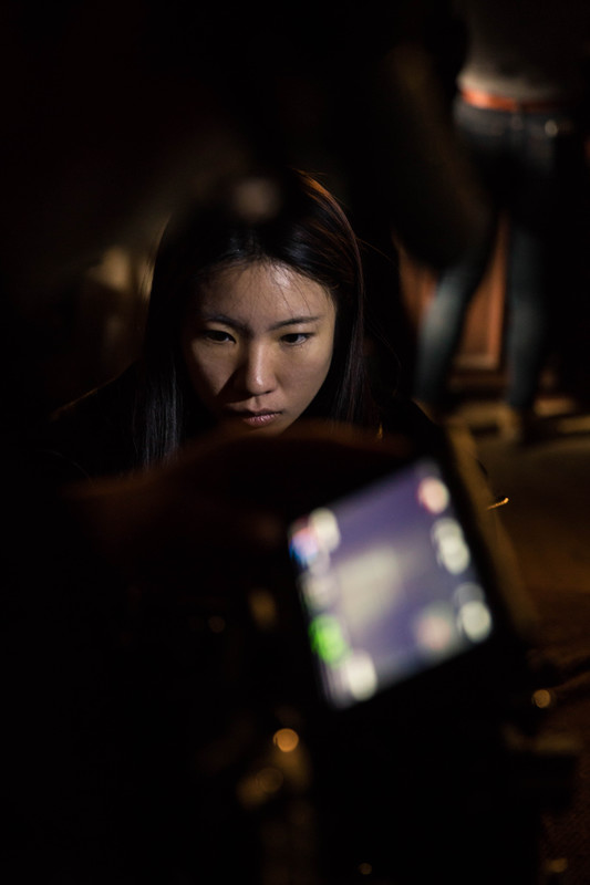 "Xiaoyu Yang on the set of ""Christina"""