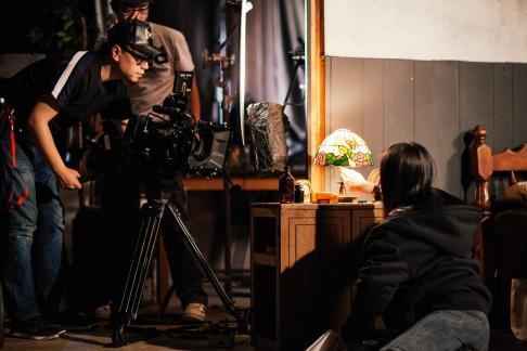 """On the set of """"Christina"""""""